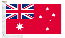 Australia Civil Red Ensign Courtesy Boat Flags (Roped and Toggled)